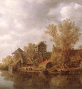 Goyen Jan van Village at the River