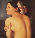 Ingres Half figure of a Bather