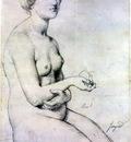 Ingres Study for Venus a Paphos