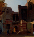 Gibert Jean Baptiste Adolphe A Street In Old Cairo