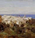 Corot View of Genoa from the Promenade of Acqua Sola