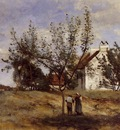 Corot An Orchard at Harvest Time