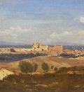 Corot Avignon Seen from Villenueve les Avignon