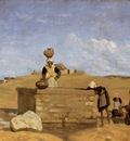 Corot Breton Women at the Fountain