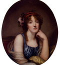 Greuze Jean Baptiste Portrait Of A Young Woman Said To Be The Artists Daughter
