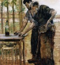 Raffaelli Jean Francois Blacksmiths taking a Drink