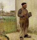 Raffaelli Jean Francois Man Having Just Painted His Fence