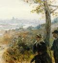 Raffaelli Jean Francois Peasants Going to Town