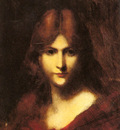 Henner Jean Jacques A Red haired Beauty