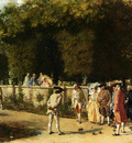 Meissonier Jean Louise Ernest Playing Jeu De Boules