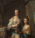 NATTIER Jean Marc Madame Marsollier And Her Daughter