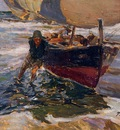 Sorolla y Bastida Joaquin Beaching the Boat study