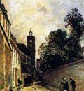 Jongkind Johan Bartold Rue De L Abbe De L Epee And The Church Of Saint James