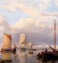 Koekkoek Hermanus Shipping On The Scheldt With Antwerp In The Background