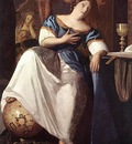 Vermeer The Allegory of the Faith detail1