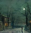 Grimshaw Atkinson The Old Hall Under Moonlight
