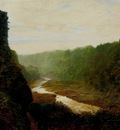 Grimshaw John Atkinson Landscape With A Winding River