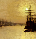 Grimshaw John Atlkinson The Thames Below London Bridge
