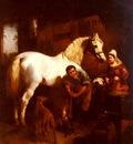 Herring John Frederick The Village Blacksmith