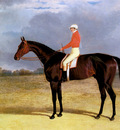 Herring Snr John Frederick A Dark Bay Racehorse With Patrick Connolly Up