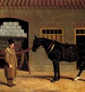 Herring Sr John Frederick A Cart Horse And Driver Outside A Stable
