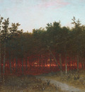 Kensett John F Twilight In The Cedars At Darien Connecticut