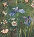 La Farge John Wild Roses And Irises