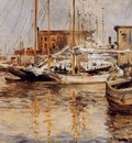 Twachtman John Oyster Boats North River