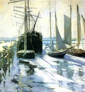 Twachtman John Winter Gloucester Harbor