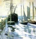 Twachtman John Winter Gloucester Harbor