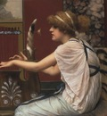 Godward Erato at her lyre