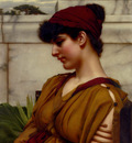 Godward John William A Classical Beauty In Profile