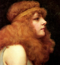 Godward John William An Auburn Beauty