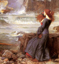 Waterhouse John William Miranda The Tempest
