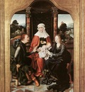 CLEVE Joos van St Anne With The Virgin And Child And St Joachim