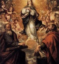 VALDES LEAL Juan de Virgin Of The Immaculate Conception With Sts Andrew And John The Baptist