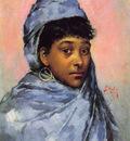 Stewart Julius LeBlanc Young Woman In Blue
