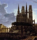 SCHINKEL Karl Friedrich Medieval Town By Water