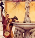 Alma Tadema Between Venus and Bacchus