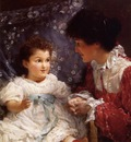 Alma Tadema Mrs George Lewis and Her Daughter Elizabeth