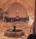Courtyard of a Mosque at Broussa 1867 36 3x26 4cm