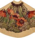 tiffany working drawing for poppy shade ca  1900