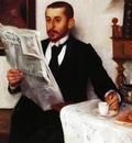 Corinth Lovis Portrait of the Painter Benno Becker