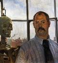 Corinth Lovis Self Portrait with Skeleton