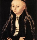 CRANACH Lucas the Elder Portrait Of A Young Girl