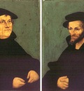 CRANACH Lucas the Elder Portraits Of Martin Luther And Philipp Melanchthon