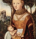 CRANACH Lucas the Elder Young Mother And Child