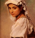 Knaus Ludwig A Portrait Of A Tyrolean Girl