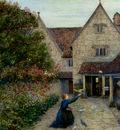 Stillman Marie Feeding The Doves At Kelmscott Manor Oxfordshire