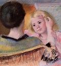 cassatt mary mother combing sara s hair no